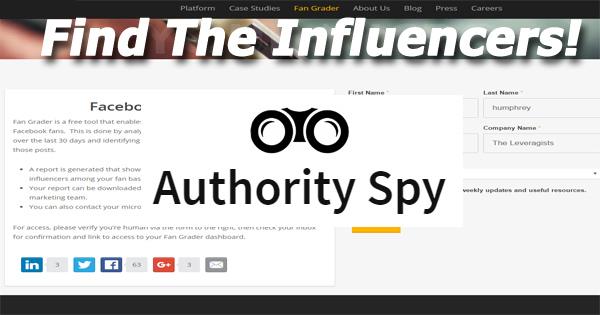 authority spy social influencer tool
